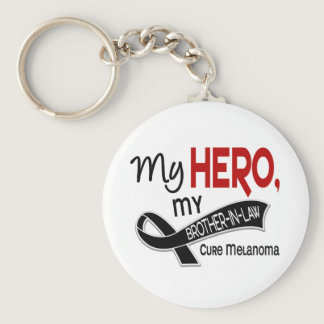 Melanoma Skin Cancer MY HERO MY BROTHER-IN-LAW 42 Keychain