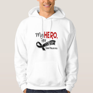 Melanoma Skin Cancer MY HERO MY COUSIN 42 Hoodie