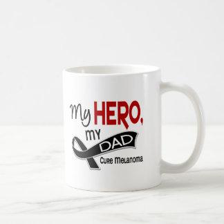 Melanoma Skin Cancer MY HERO MY DAD 42 Classic White Coffee Mug