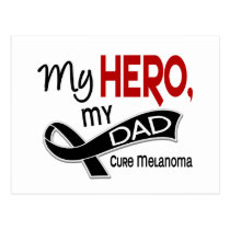 Melanoma Skin Cancer MY HERO MY DAD 42 Postcard
