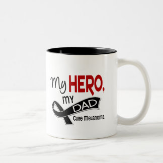 Melanoma Skin Cancer MY HERO MY DAD 42 Two-Tone Coffee Mug