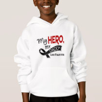 Melanoma Skin Cancer MY HERO MY DADDY 42 Hoodie