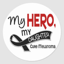 Melanoma Skin Cancer MY HERO MY DAUGHTER 42 Classic Round Sticker