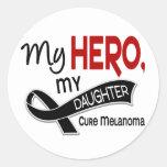 Melanoma Skin Cancer MY HERO MY DAUGHTER 42 Round Sticker
