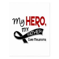 Melanoma Skin Cancer MY HERO MY FATHER 42 Postcard