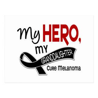 Melanoma Skin Cancer MY HERO MY GRANDDAUGHTER 42 Postcard