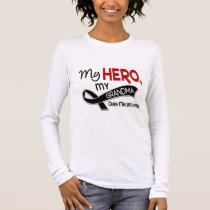 Melanoma Skin Cancer MY HERO MY GRANDMA 42 Long Sleeve T-Shirt
