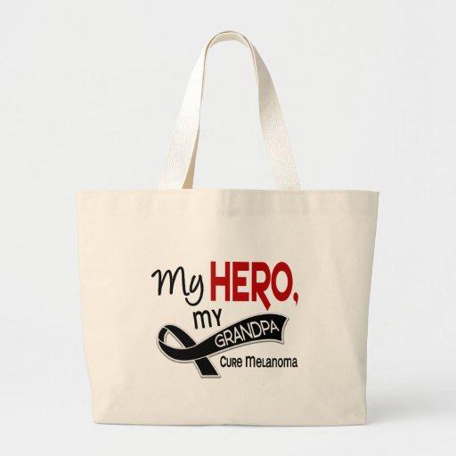 Melanoma Skin Cancer MY HERO MY GRANDPA 42 Tote Bags
