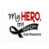 Melanoma Skin Cancer MY HERO MY GRANDPA 42 Postcard