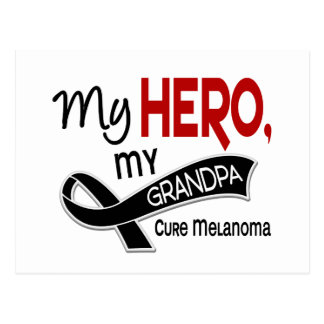 Melanoma Skin Cancer MY HERO MY GRANDPA 42 Postcard