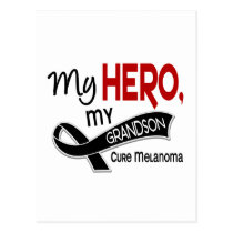 Melanoma Skin Cancer MY HERO MY GRANDSON 42 Postcard