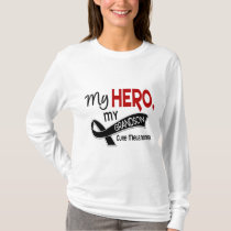 Melanoma Skin Cancer MY HERO MY GRANDSON 42 T-Shirt