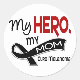 Melanoma Skin Cancer MY HERO MY MOM 42 Sticker