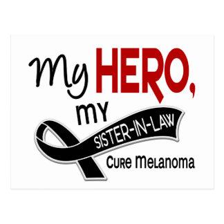Melanoma Skin Cancer MY HERO MY SISTER-IN-LAW 42 Postcard