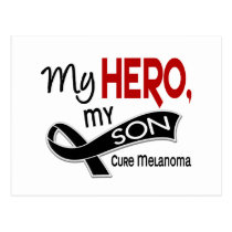 Melanoma Skin Cancer MY HERO MY SON 42 Postcard