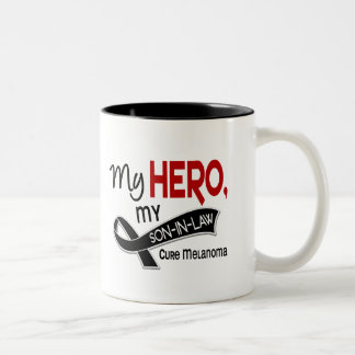 Melanoma Skin Cancer MY HERO MY SON-IN-LAW 42 Two-Tone Coffee Mug