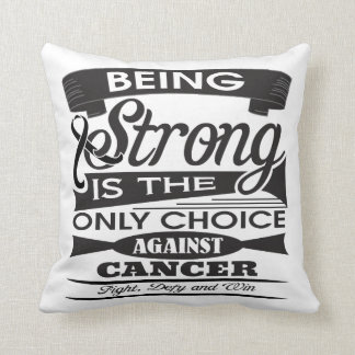 Melanoma Strong is The Only Choice Pillows