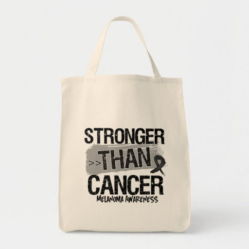 Melanoma - Stronger Than Cancer Tote Bags