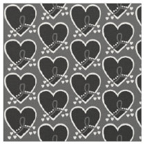 Melanoma Survival Heart Fabric