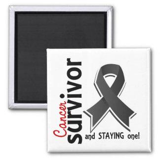 Melanoma Survivor 19 2 Inch Square Magnet