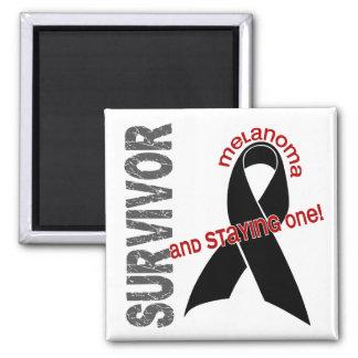 Melanoma Survivor 1 2 Inch Square Magnet