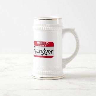 Melanoma Survivor 24.png Beer Stein