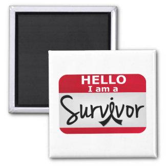 Melanoma Survivor 24.png 2 Inch Square Magnet