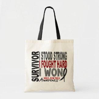 Melanoma Survivor 4 Budget Tote Bag