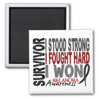 Melanoma Survivor 4 2 Inch Square Magnet