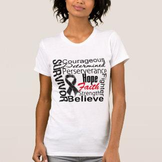 Melanoma Survivor Collage T Shirts