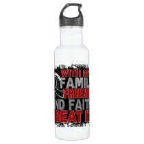 Melanoma Survivor Family Friends Faith Stainless Steel Water Bottle
