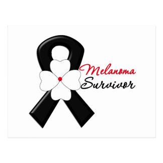 Melanoma Survivor Flower Ribbon Postcard