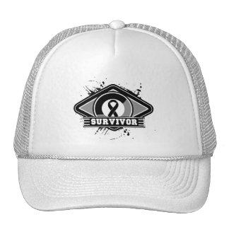 Melanoma Survivor Grunge Logo Trucker Hat