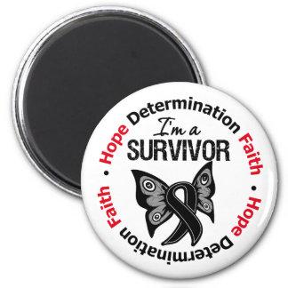 Melanoma Survivor Hope Determination Faith 2 Inch Round Magnet