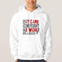 Melanoma Survivor It Came We Fought I Won Hoodie