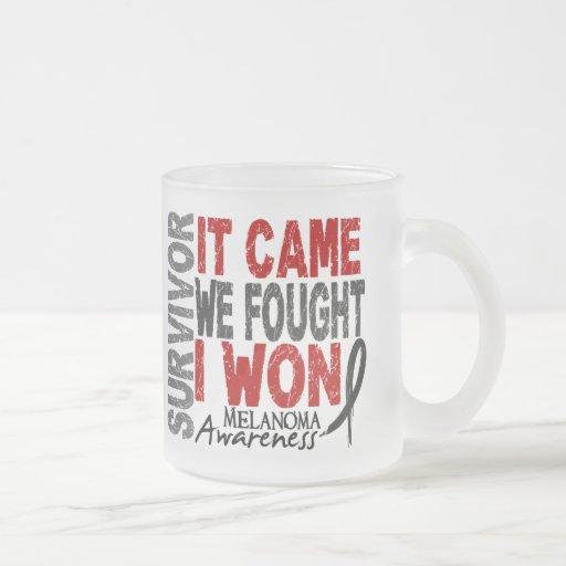 Melanoma Survivor It Came We Fought I Won Mugs