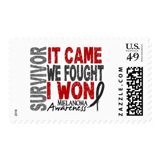 Melanoma Survivor It Came We Fought I Won Postage Stamp