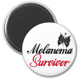 Melanoma Survivor 2 Inch Round Magnet
