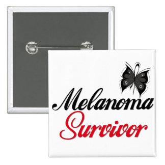 Melanoma Survivor Pinback Button