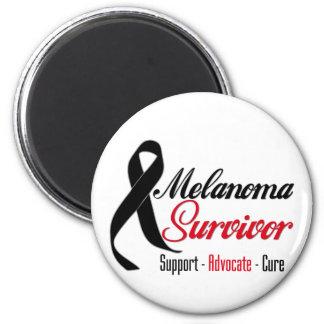 Melanoma Survivor Ribbon 2 Inch Round Magnet