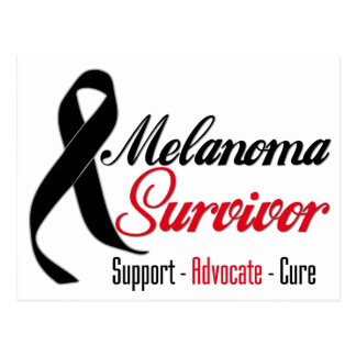 Melanoma Survivor Ribbon Postcard