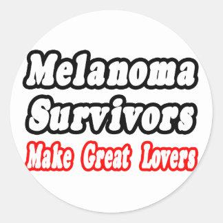 Melanoma Survivors Make Great Lovers Classic Round Sticker