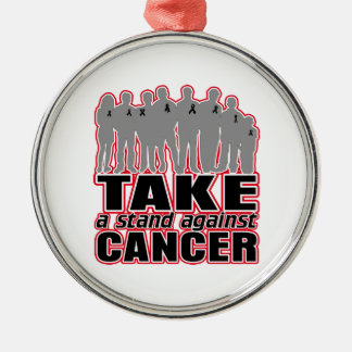 Melanoma -Take A Stand Against Cancer Round Metal Christmas Ornament