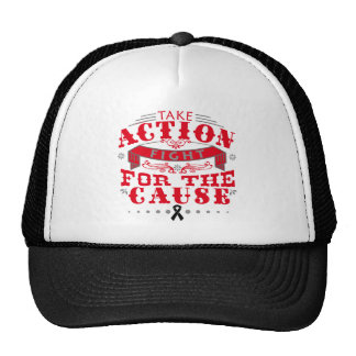 Melanoma Take Action Fight For The Cause Trucker Hat