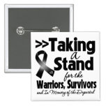 Melanoma Taking a Stand Tribute Buttons