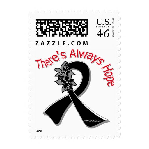 Melanoma There's Always Hope Floral Postage