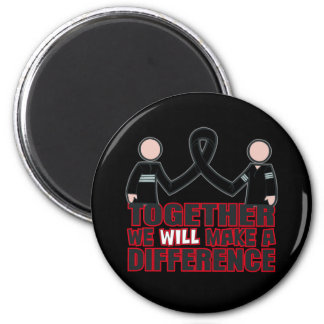 Melanoma Together We Will Make A Difference.png 2 Inch Round Magnet