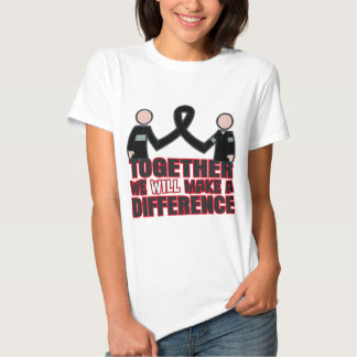Melanoma Together We Will Make A Difference.png Tee Shirts