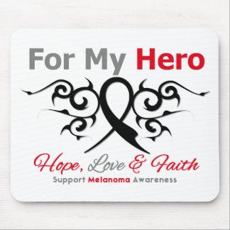 Melanoma Tribal Ribbon Hero Mouse Pads