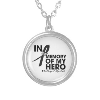Melanoma Tribute In Memory of My Hero Silver Plated Necklace